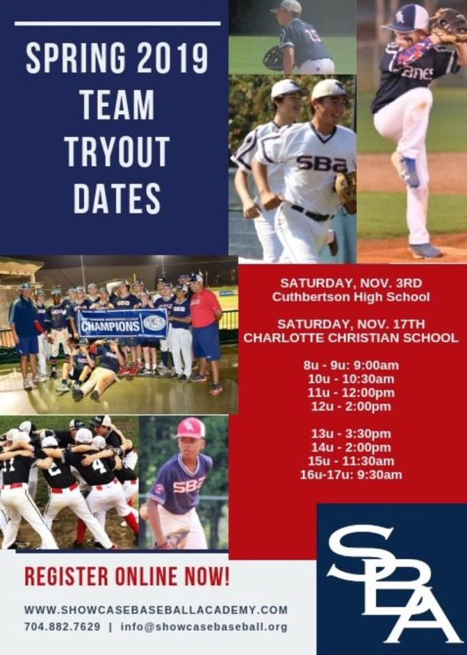 SBA Spring 2019 Tryouts Announced